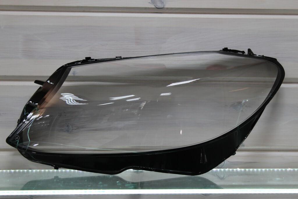 Стекло на левую фару для Mercedes C-class W205 logo 2014-2018