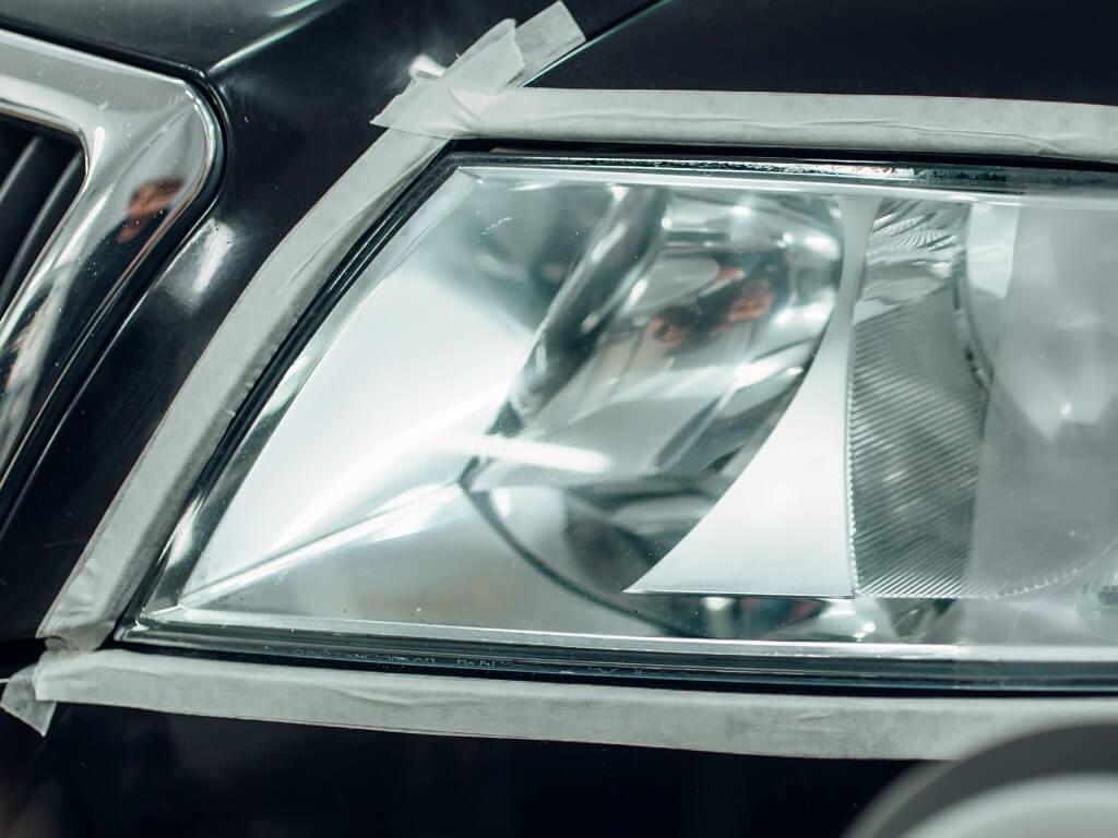 Восстановление прозрачности стекла фары