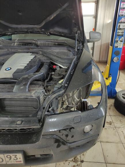 Демонтаж оптики с BMW X5